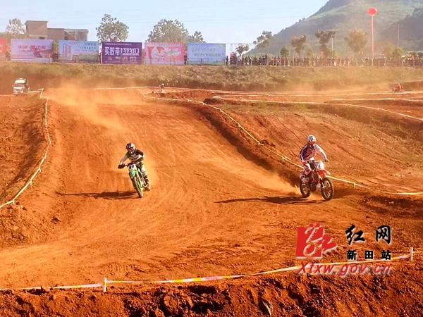 中国摩托车越野锦标赛在新田激情开赛